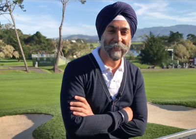 Hardeep Ahluwalia and view from the CVVC Chalet